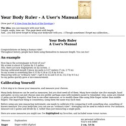 Your Body Ruler - A User's Manual