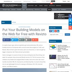 Put Your Building Models on the Web for Free with Revizto