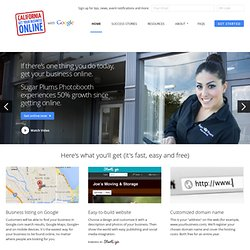 California Get Your Business Online - Easy, fast and free websites from Google