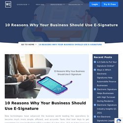 Why Your Business Should Use Online Signature