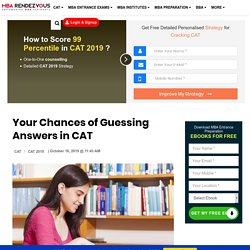 Your chances of guessing answers in CAT 2019