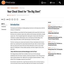 "Your Cheat Sheet for ""The Big Short"" - Third Way"