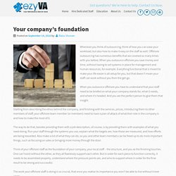Your Company's Foundation
