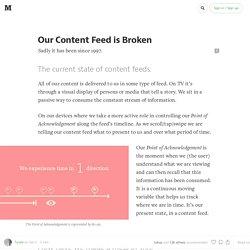 Your Content Feed is Broken