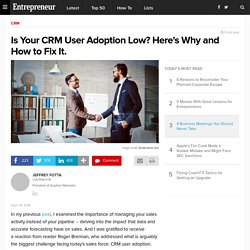 Is Your CRM User Adoption Low? Here's Why and How to Fix It.