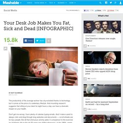 Your Desk Job Makes You Fat, Sick and Dead [INFOGRAPHIC]