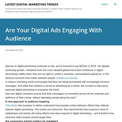 Are Your Digital Ads Engaging With Audience