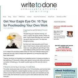Get Your Eagle Eye On: 10 Tips for Proofreading Your Own Work