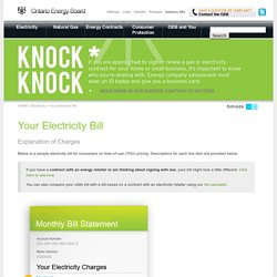 Your Electricity Bill