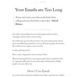 Your Emails are Too Long