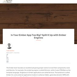 Is Your Ember App Too Big? Split It Up with Ember Engines