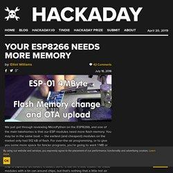 Your ESP8266 Needs More Memory