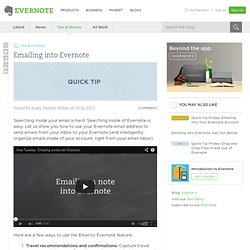 How to Use Your Evernote Email Address Evernote Blog