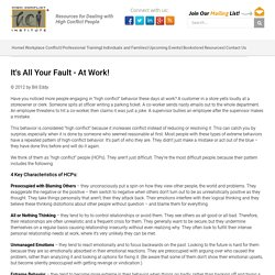 It's All Your Fault - At Work! - High Conflict Institute