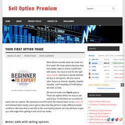 Your first Option Trade