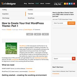 How to Create Your first WordPress Theme: Part 1