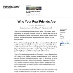 Who Your Real Friends Are