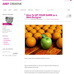 How To UP YOUR GAME as a Web Designer