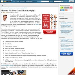 How to Fix Your Gmail Error 76989? by Mays Jacob