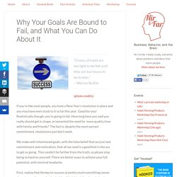 Why Your Goals Are Bound to Fail, and What You Can Do About It