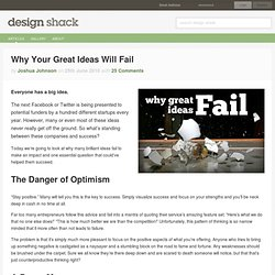 Why Your Great Ideas Will Fail