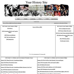Your History Site Writing DBQs