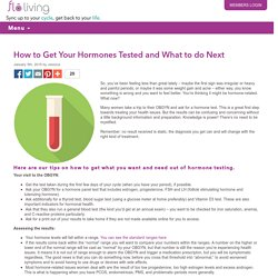 How to Get Your Hormones Tested and What to do Next