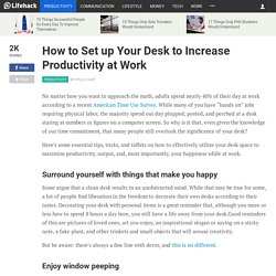 How to Set up Your Desk to Increase Productivity at Work