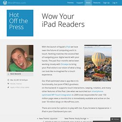 Wow Your iPad Readers