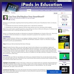 Can Your iPad Replace Your SmartBoard?