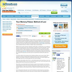 Your Memory Palace: Method of Loci