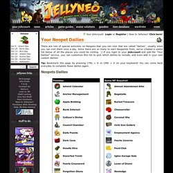 Your Neopet Dailies