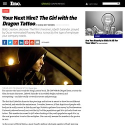 Why Your Next Hire Should Be Like Lisbeth Salander