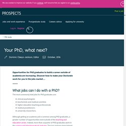 Your PhD, what next?