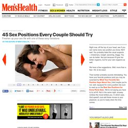 Your Sex Position Playbook