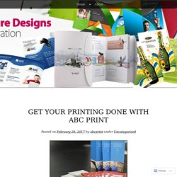 Get Your Printing Done with ABC Print