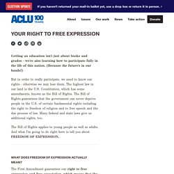 Your Right to Free Expression - ACLU