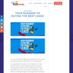 Your Roadmap to Buying the Best Leads