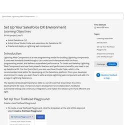 Set Up Your Salesforce DX Environment Unit