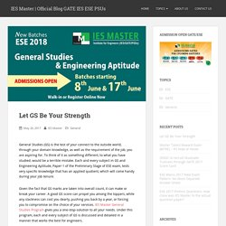 Let GS Be Your Strength – IES Master