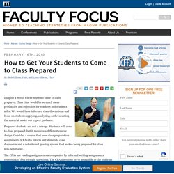 How to Get Your Students to Come to Class Prepared