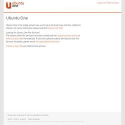 Ubuntu One : Home