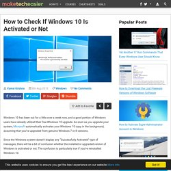 Is Your Windows 10 Activated? Here's How to Check