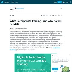 What is corporate training, and why do you need it?