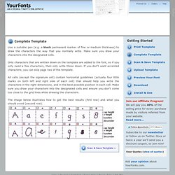 Generate Your Own Fonts Online