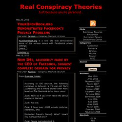 Real Conspiracy Theories: Just because youre paranoid…