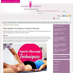 Most Popular Techniques in Sports Massage