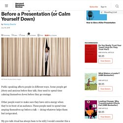 How to Pump Yourself Up Before a Presentation (or Calm Yourself Down)