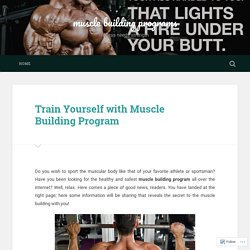 Train Yourself with Muscle Building Program – muscle building programs
