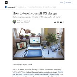 How to teach yourself UX design - Prototypr